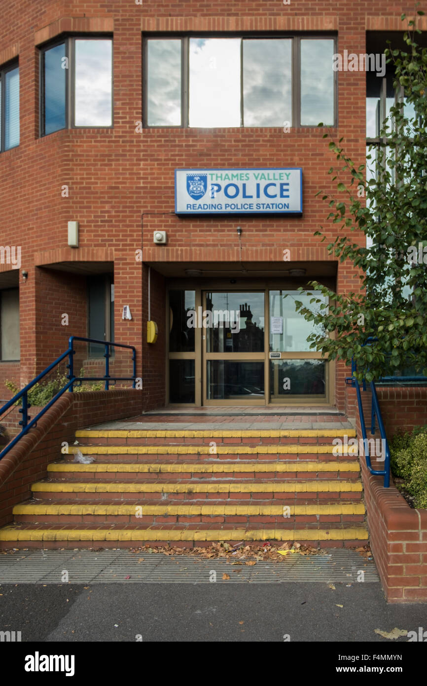 Reading Police Station, Thames Valley Police, Reading, Berkshire, England, GB, UK - Stock Image