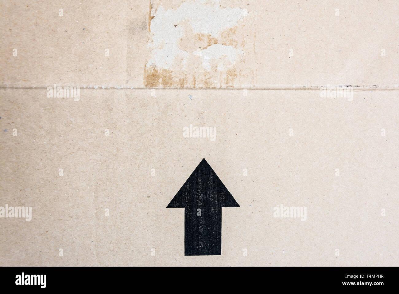 detail of delivered  parcel - Stock Image