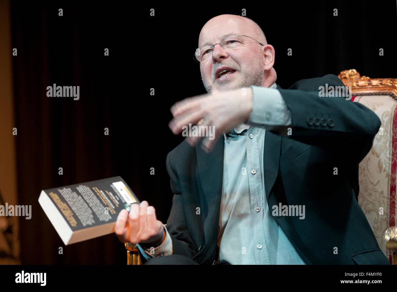 Douglas Jackson, author and former journalist, at the Summerhall Historical Fiction Festival 2015. Edinburgh, Scotland. - Stock Image
