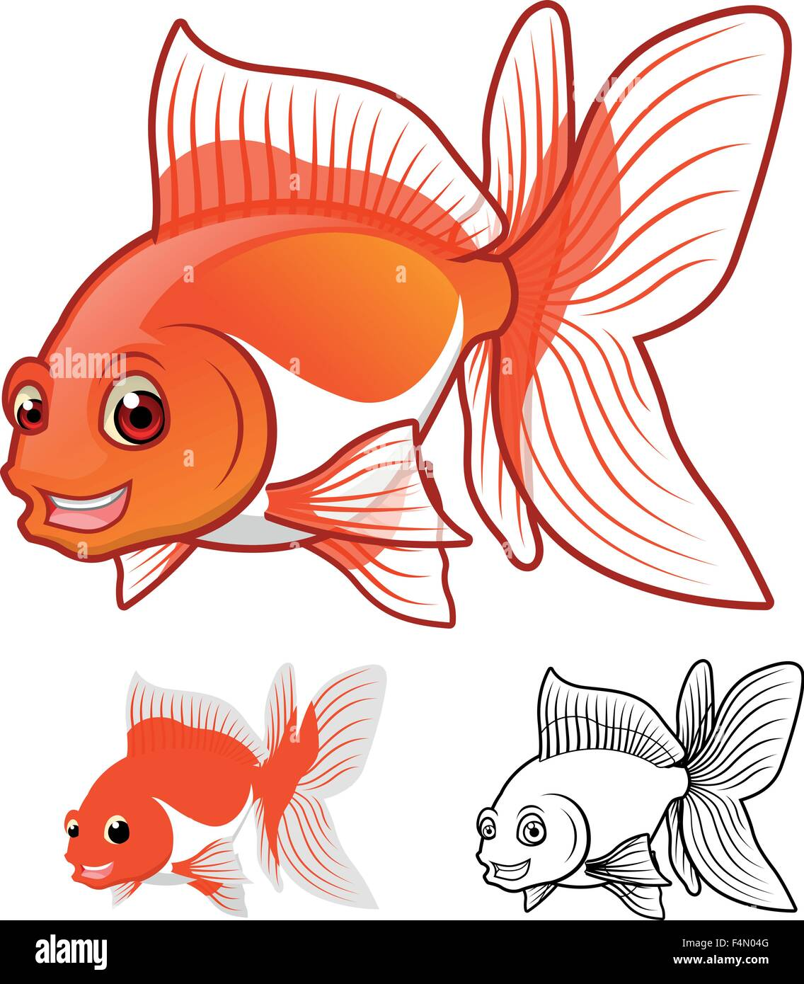 Goldfish Tail Stock Vector Images - Alamy