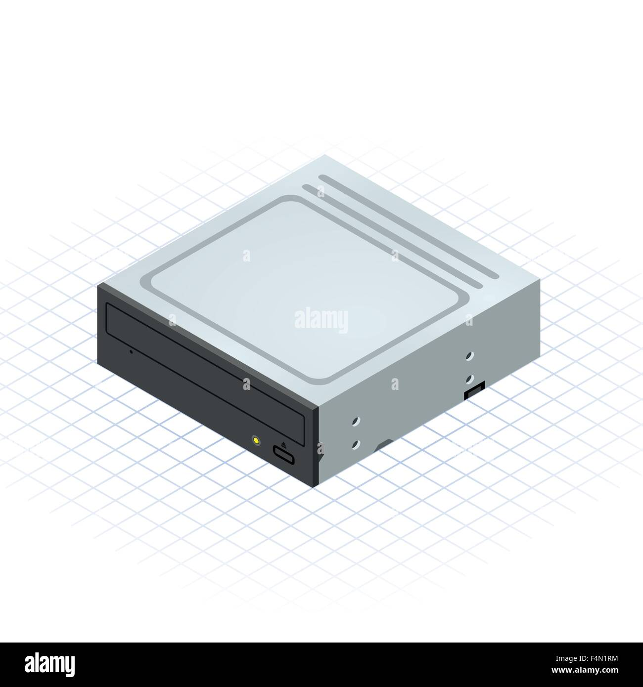 Isometric Disc Drive - Stock Image