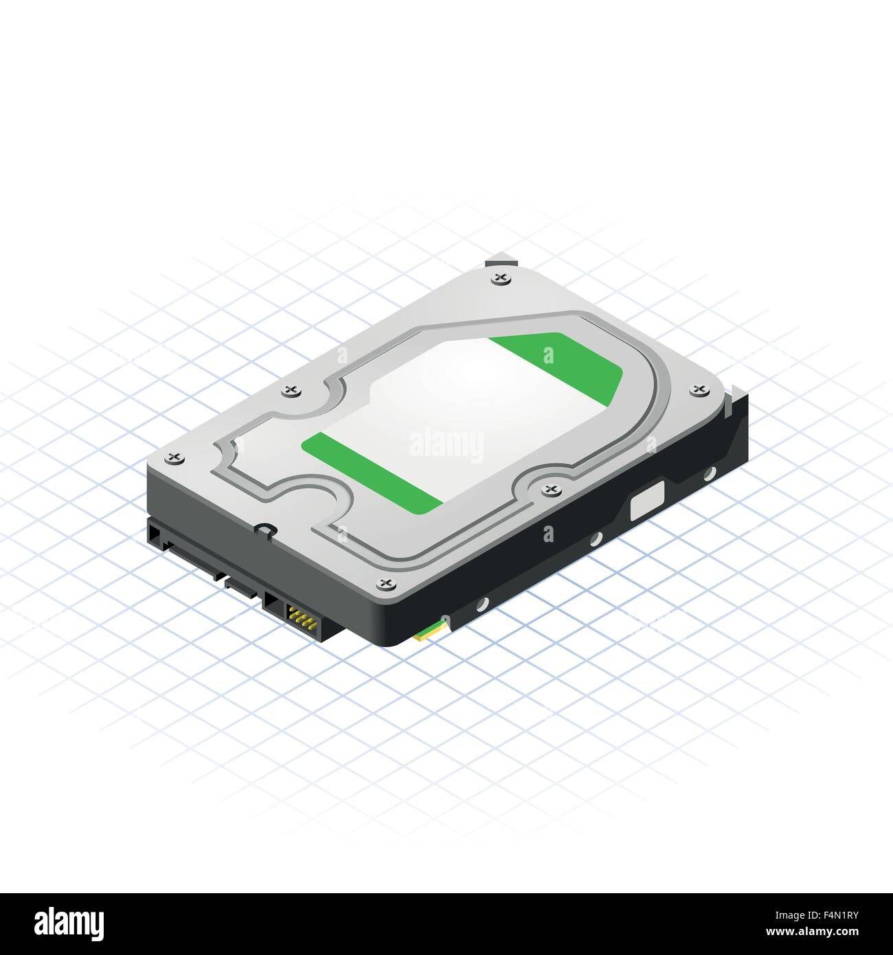 Isometric Hard Disk - Stock Image