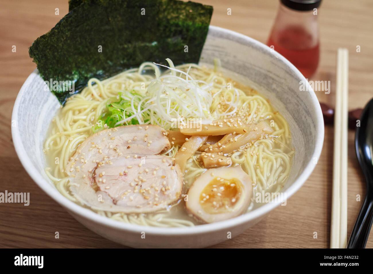 Japanese  Ramen noodles- Shio based - Stock Image