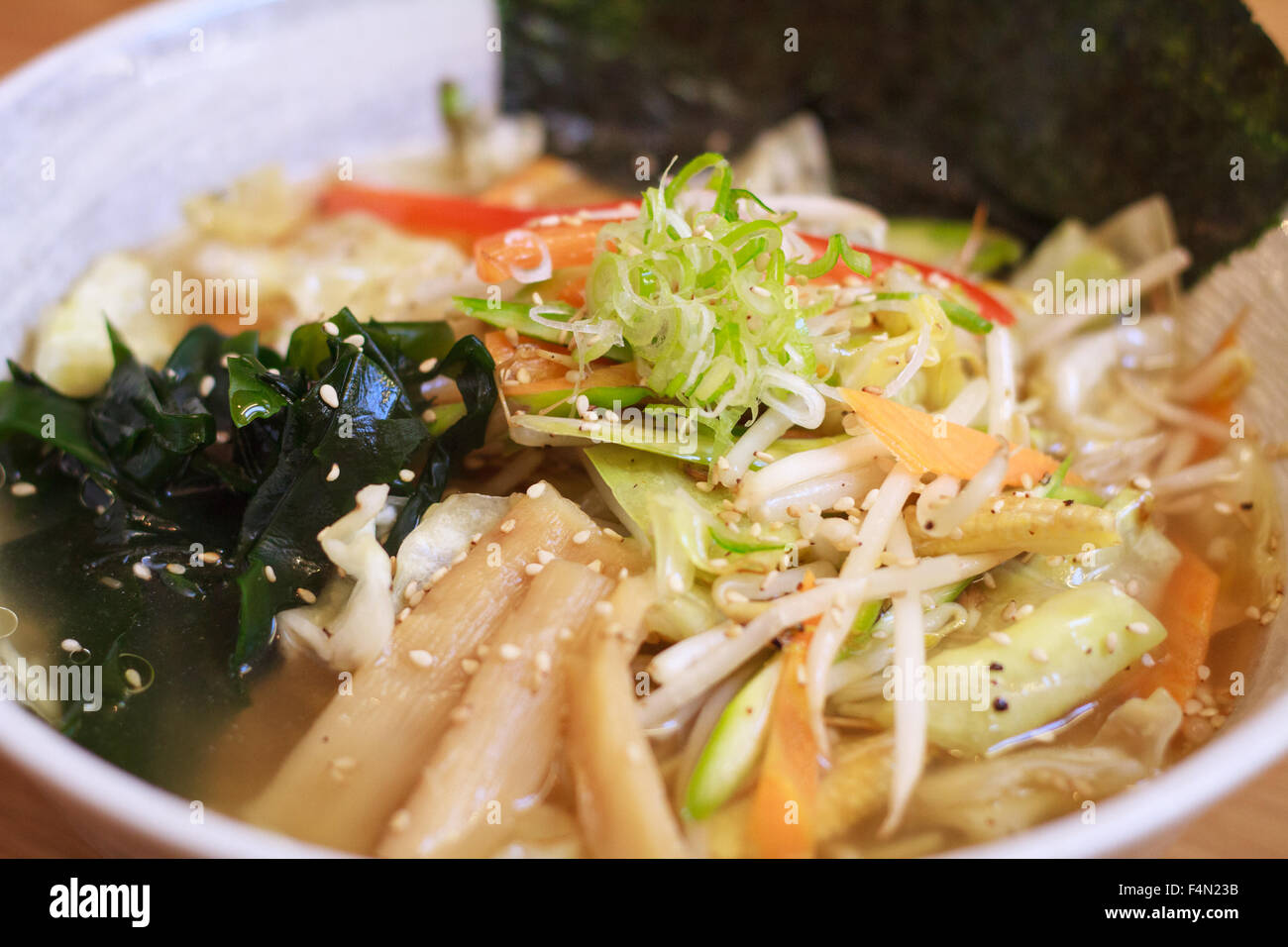 Japanese Vegetable based Ramen noodles - Stock Image