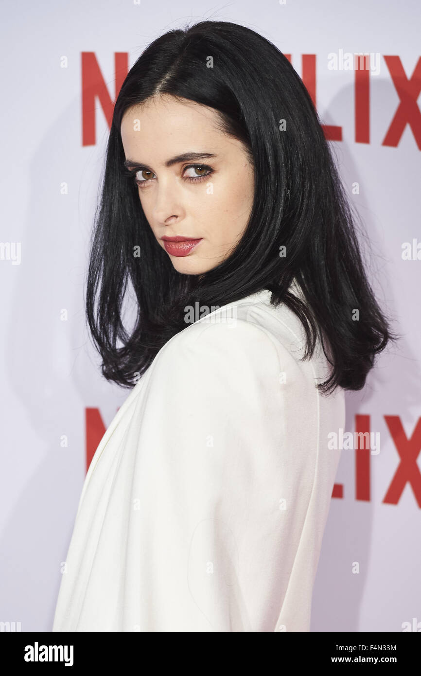 Madrid, Spain. 20th Oct, 2015. KRYSTEN RITTER attends Netflix ...