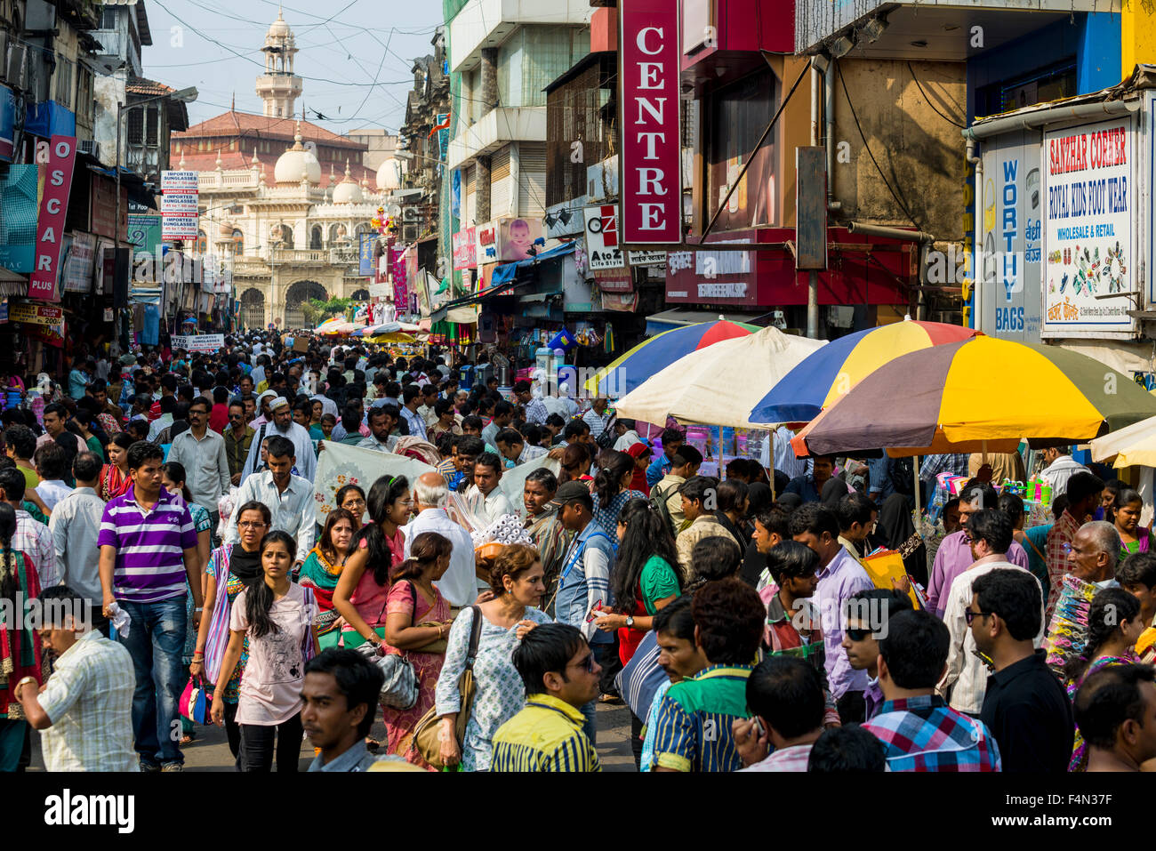 many people in a crowded street with shops at mangaldas market stock photo 88974019 alamy. Black Bedroom Furniture Sets. Home Design Ideas