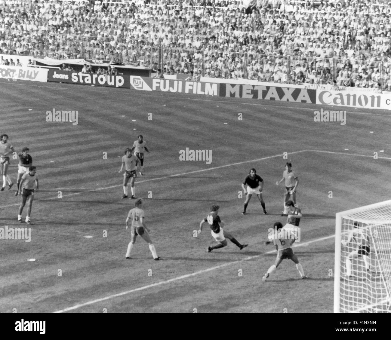Italy-Brazil World Cup 1982 - Stock Image