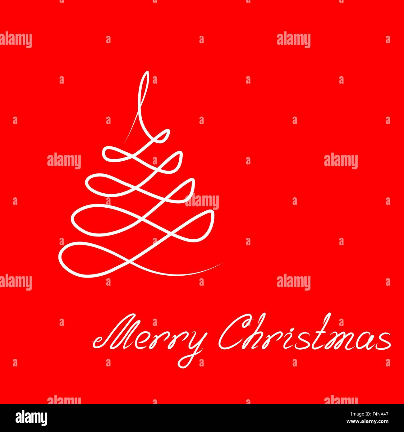 Hand Drawing Illustration Christmas Tree And Lettering Merry Art Vector For Your Design