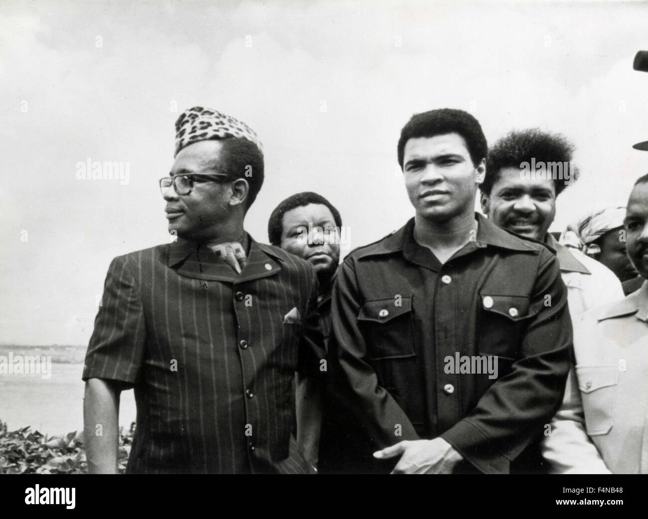Mobutu and Muhammad Ali, Zaire - President, Democratic Republic of Congo - Stock Image