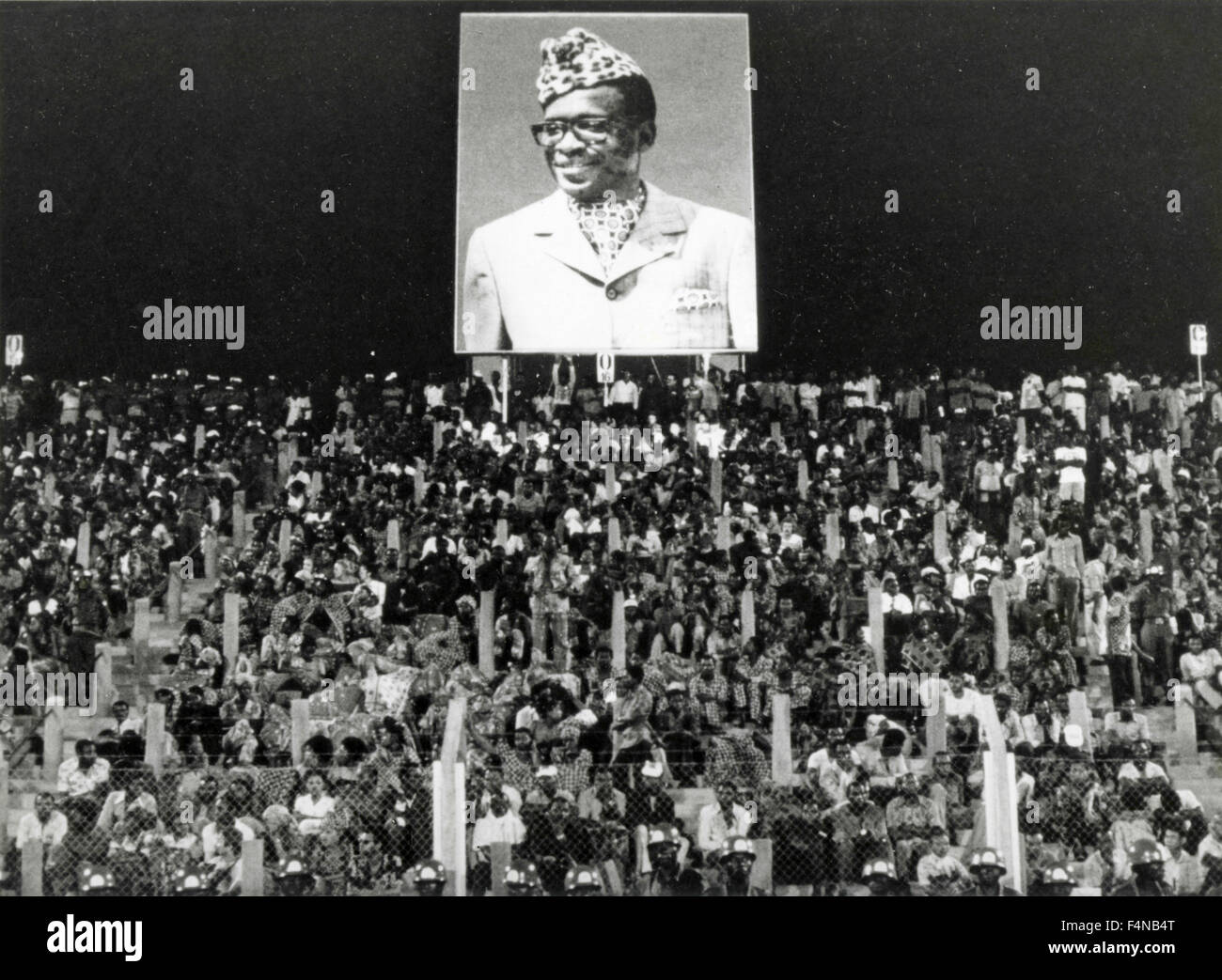 Blow-up of Mobutu, President, Zaire - Stock Image