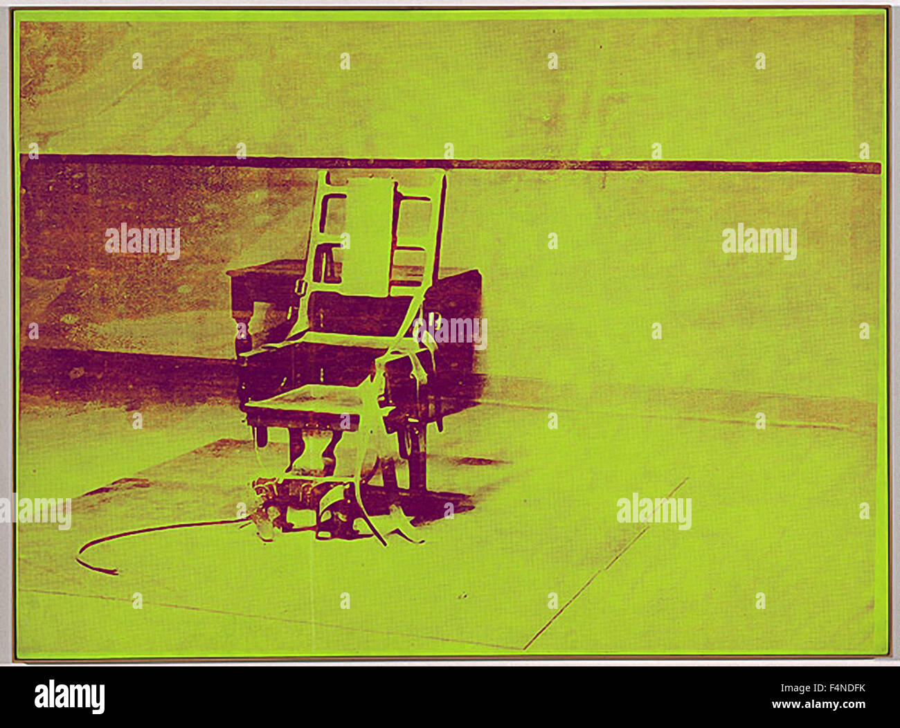 Andy Warhol - Electric Chair - Stock Image