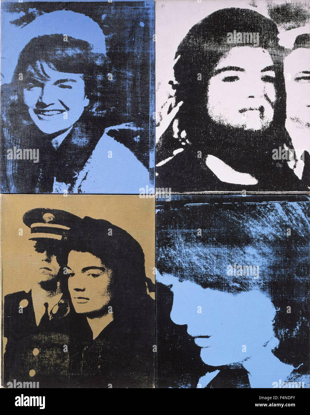 Andy Warhol - Jackie (Four Jackies) (Portraits of Mrs. Jacqueline Kennedy) - Stock Image