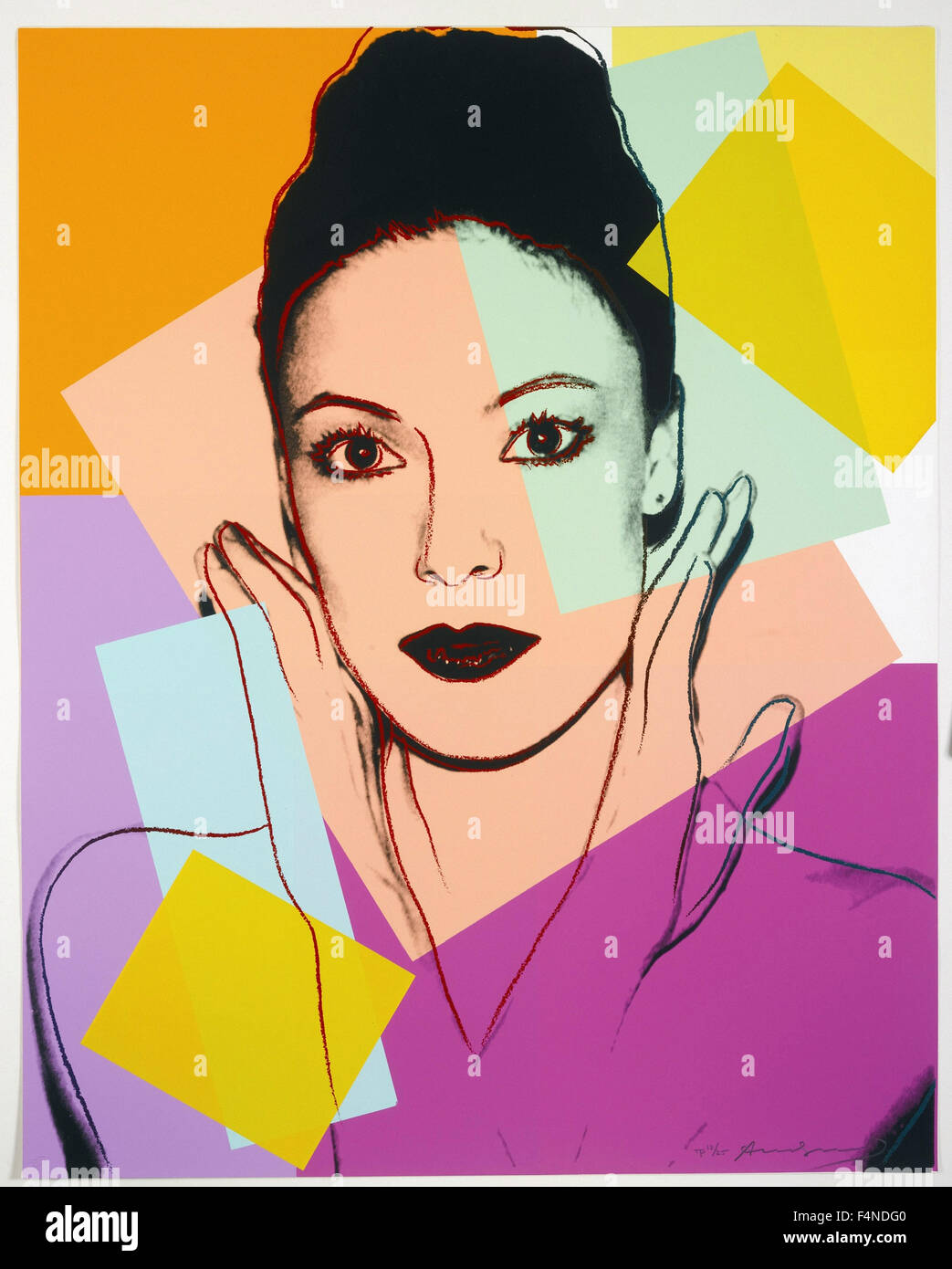 Andy Warhol - Karen Kain - Stock Image