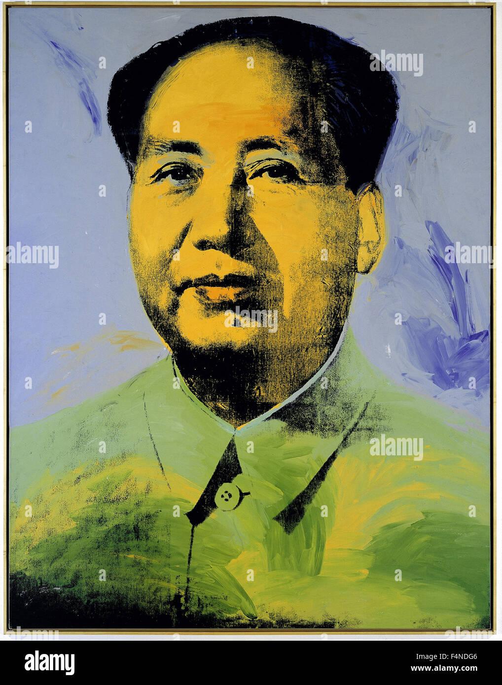 Andy Warhol - Mao - Stock Image