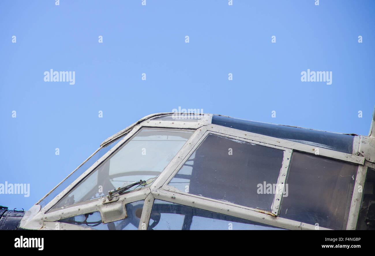 Russian aircraft cockpit plane pilot fly sky - Stock Image