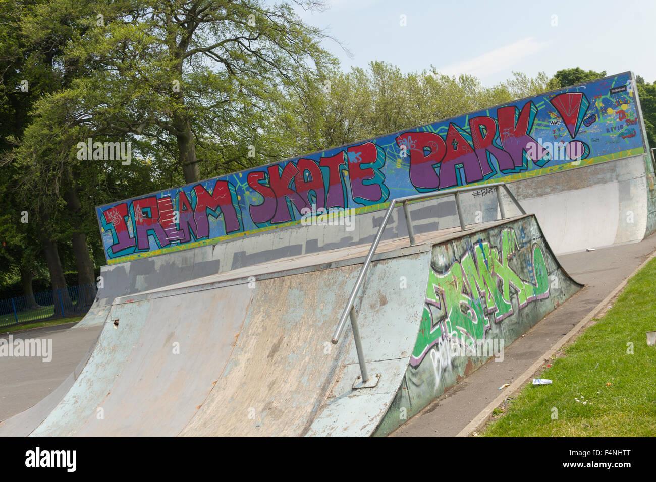 Irlam Skate Park, Irlam, Greater Manchester. - Stock Image