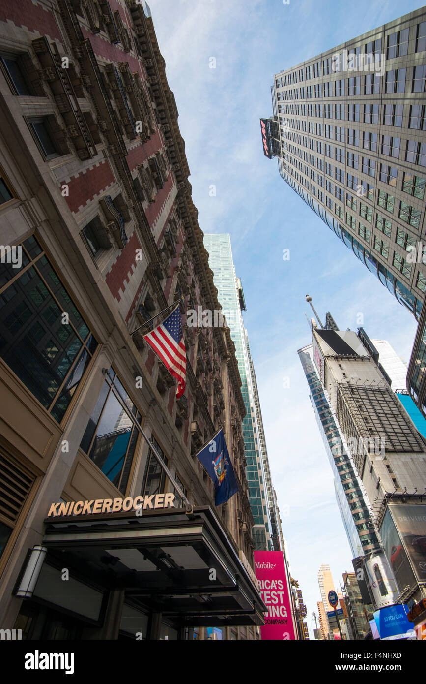 Midtown skyscrapers on 42nd St in New York City USA Stock Photo
