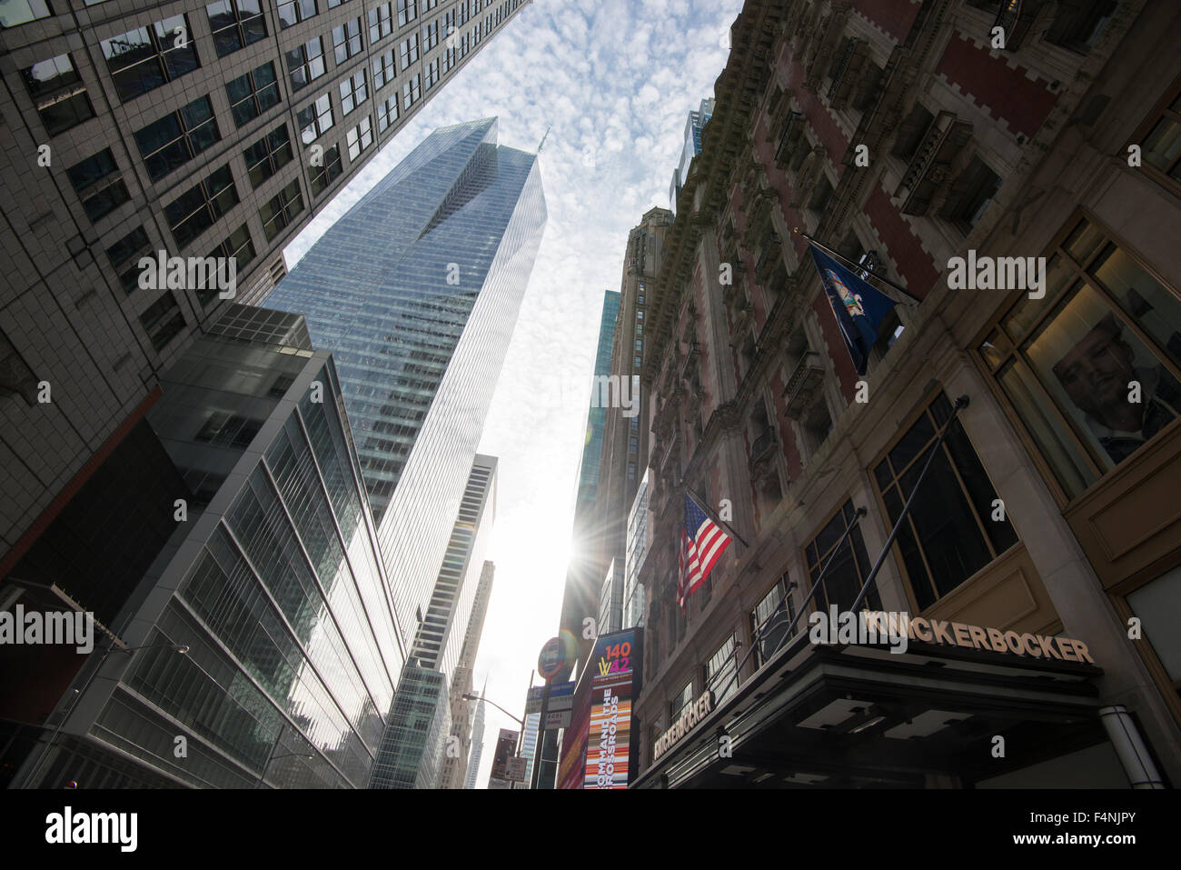 Early morning light on 42nd St in New York City USA Stock Photo
