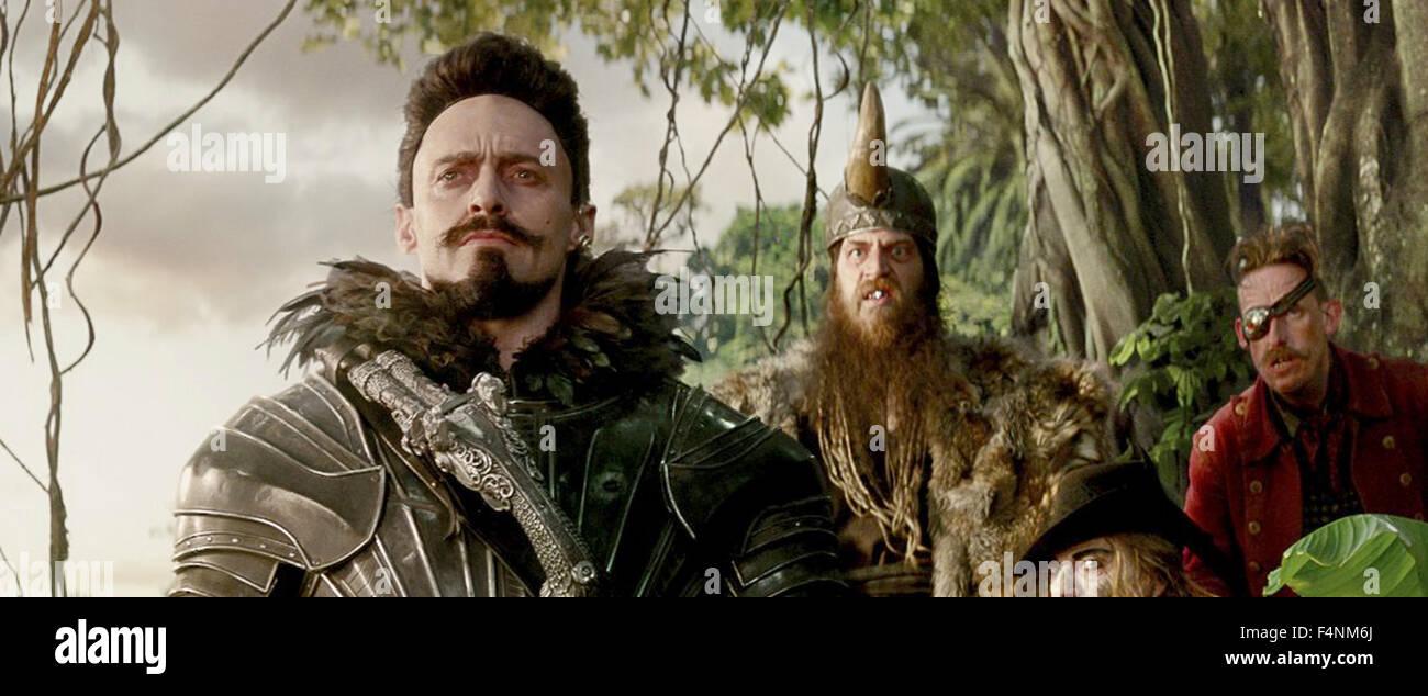 PAN 2014 Warner Bros film with Hugh Jackman at left - Stock Image
