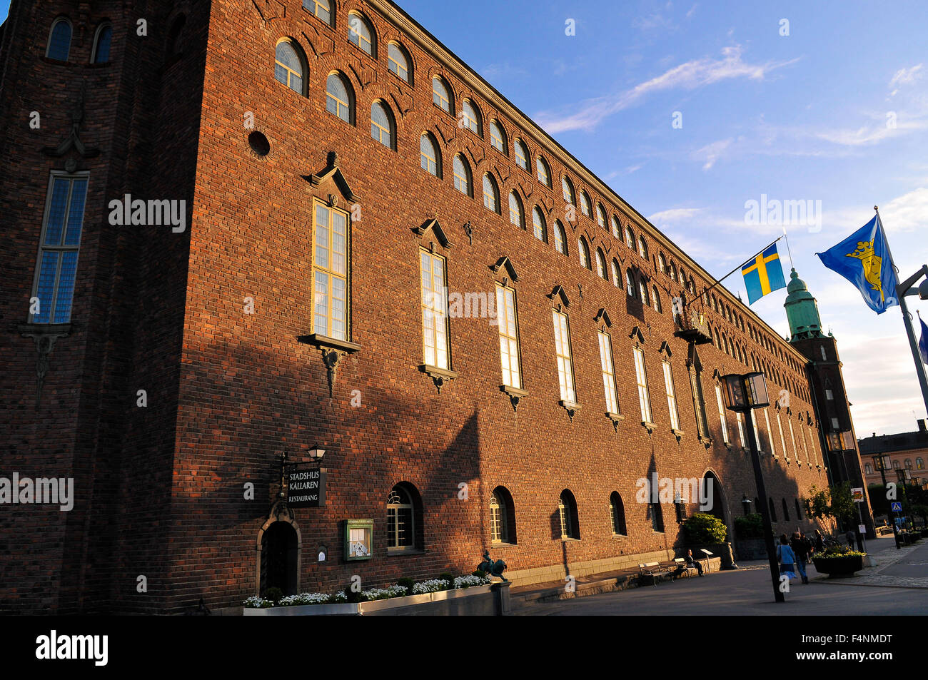 Svezia Stoccolma Stadshuset Il municipio Sweden Stockholm Stadhuset or Town Hall - Stock Image