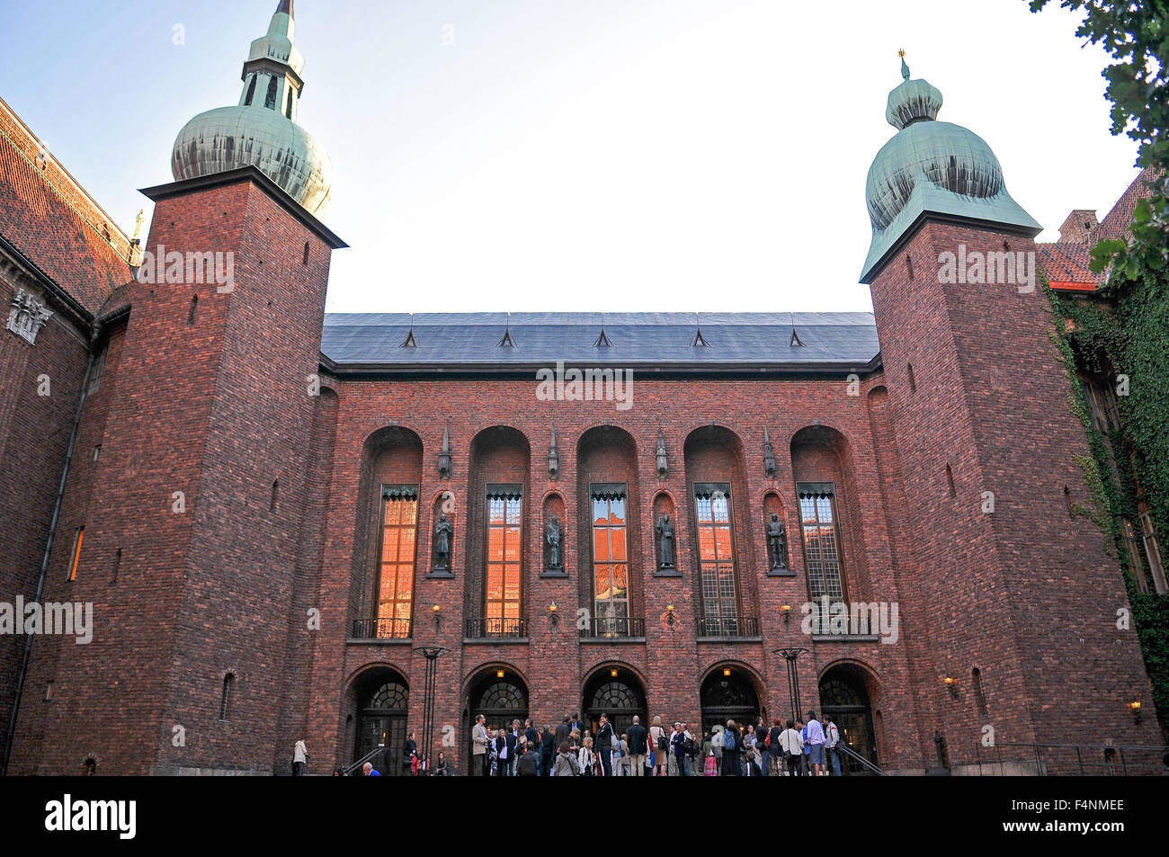 Sweden Stockholm Stadhuset or Town Hall The courtyard - Stock Image