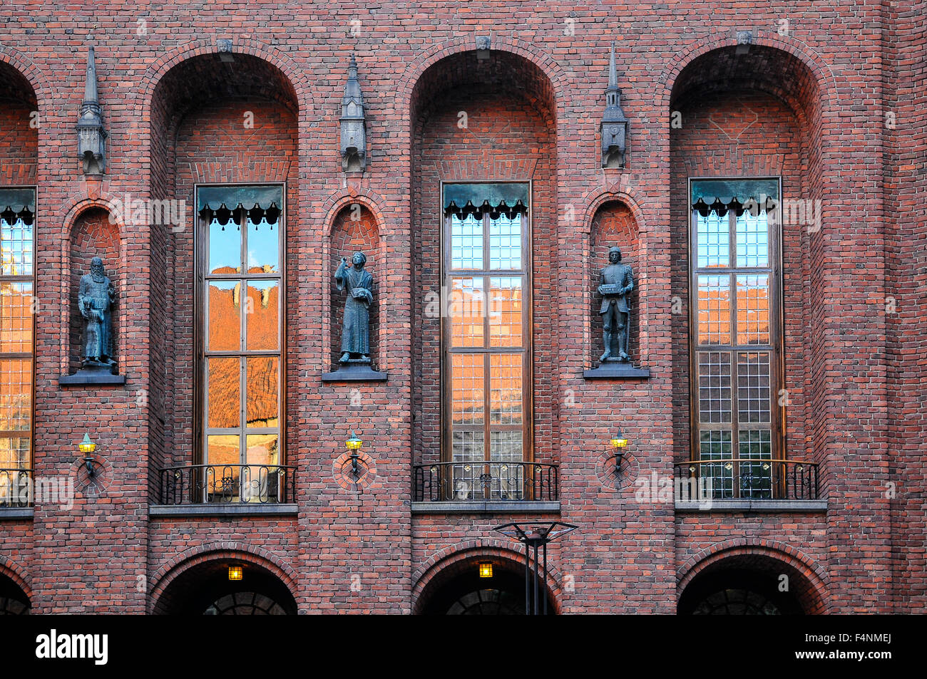 Sweden Stockholm Stadhuset or Town Hall The facade - Stock Image
