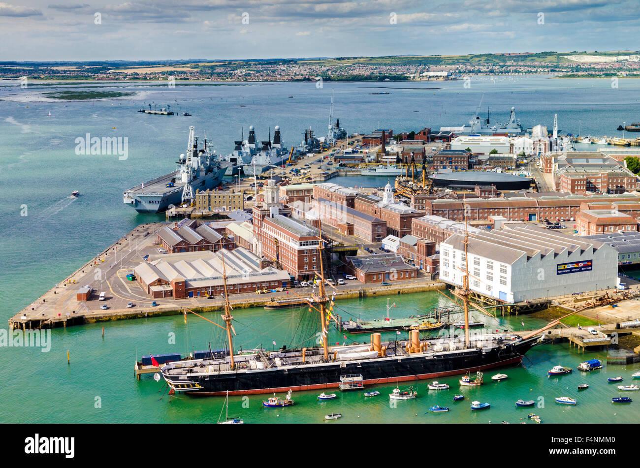 Portsmouth Historic Dockyard, Hampshire, England. - Stock Image