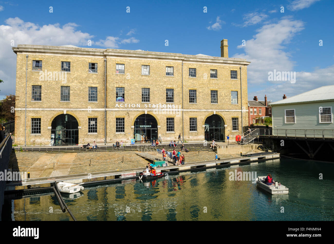 The Action Centre museum at Portsmouth Historic Dockyard, Hampshire, England. - Stock Image