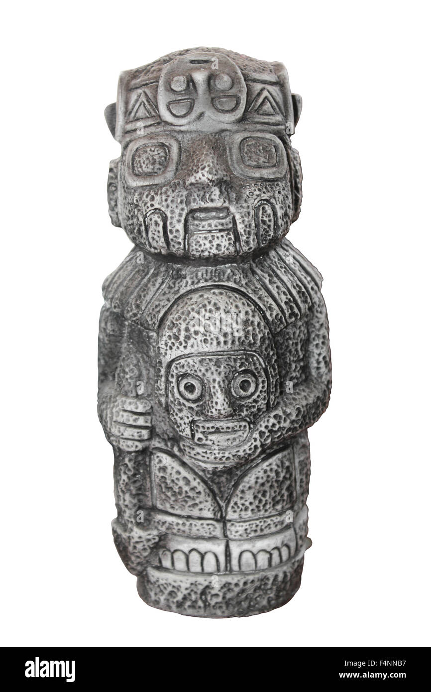 Incan Statue cut-out Stock Photo