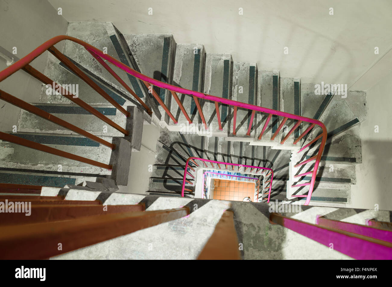 Staircase inside the Wellington Arch, London. - Stock Image