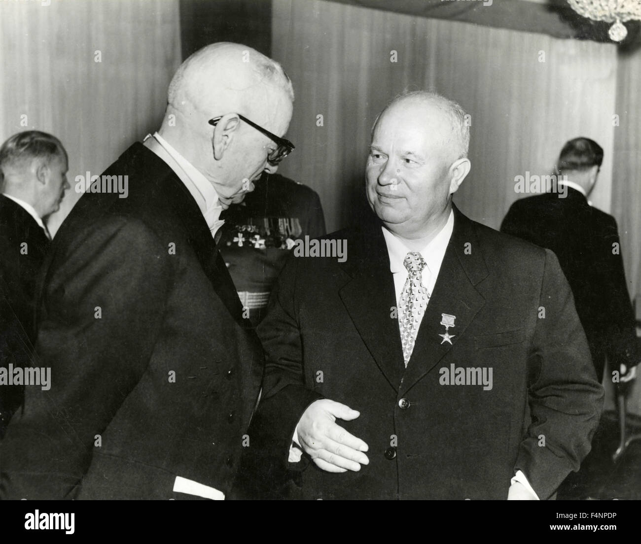 The Secretary General of the Communist Party of the USSR Nikita Khrushchev at a party - Stock Image