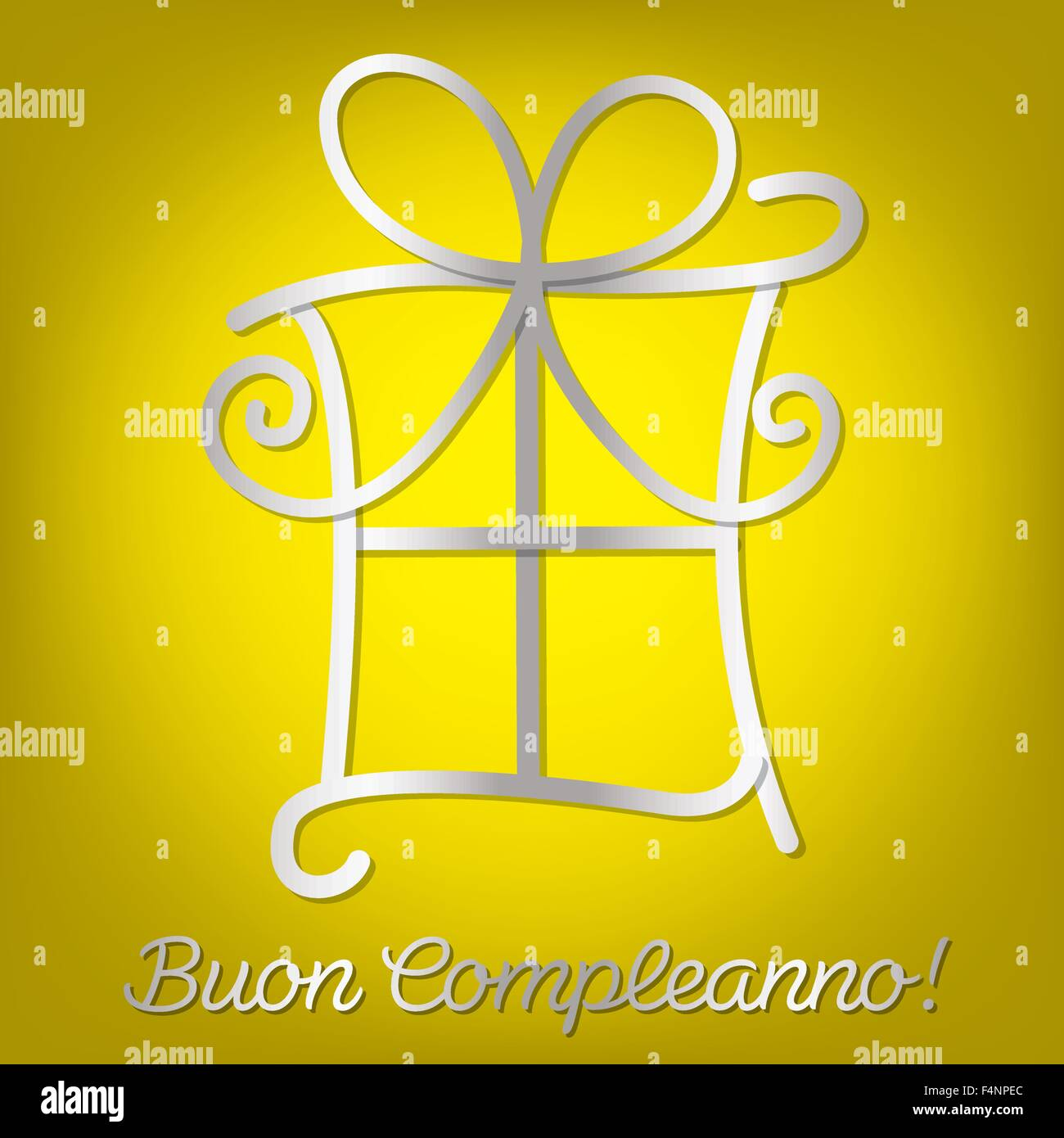 Bright Italian Happy Birthday Card In Vector Format