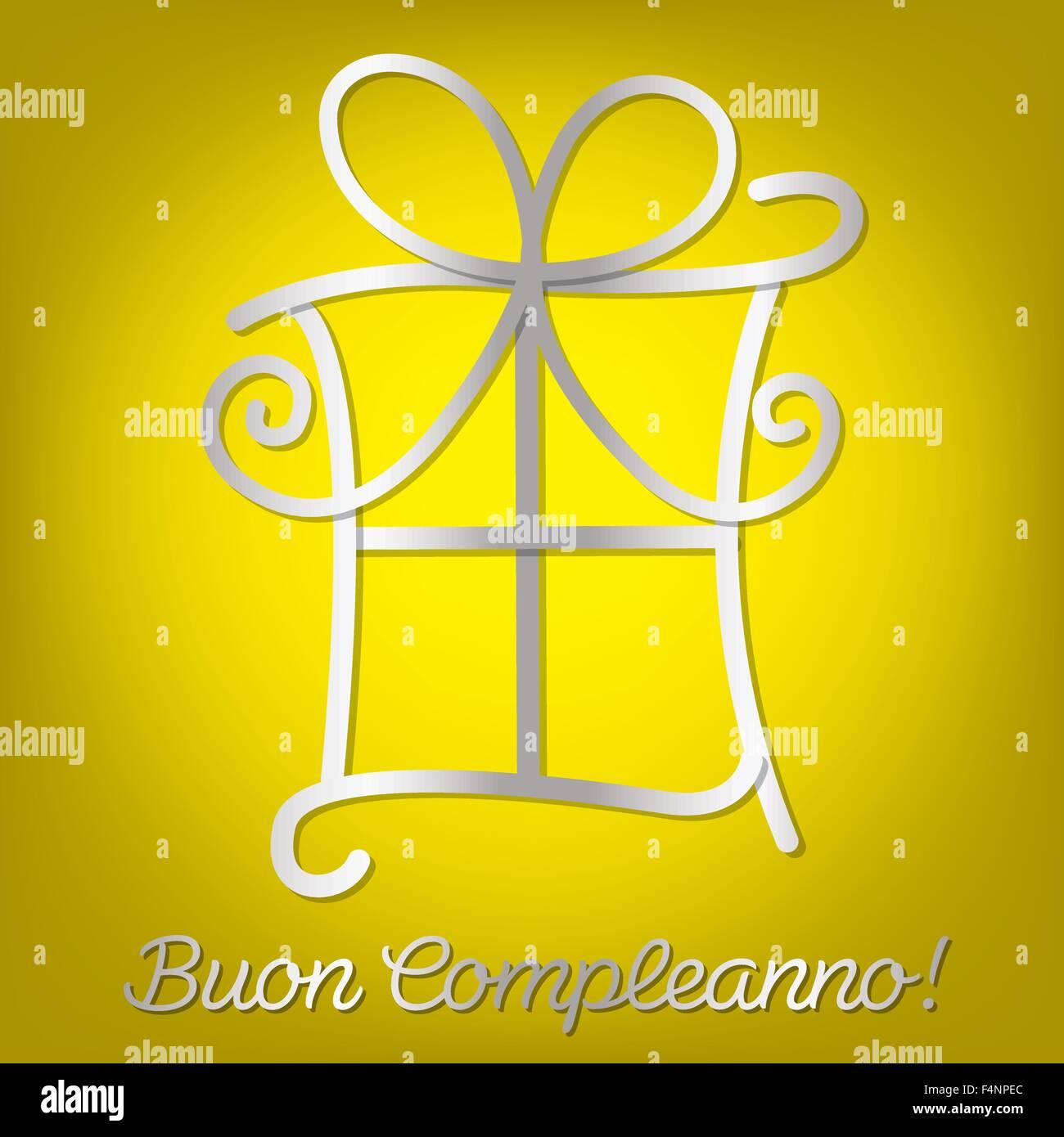 Bright Italian Happy Birthday Card In Vector Format