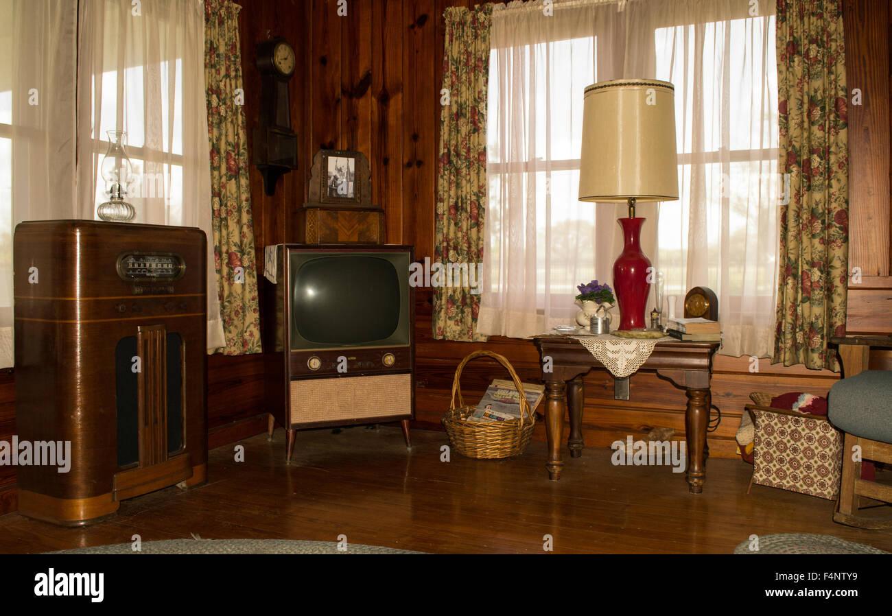 Vintage Livingroom - Stock Image
