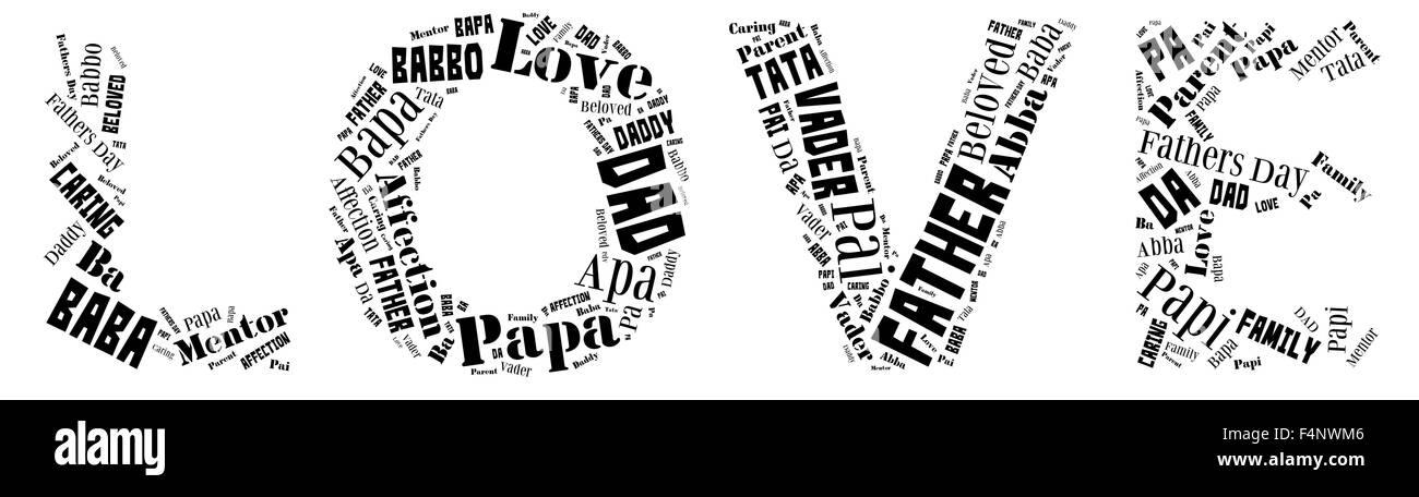 Word Cloud For Fathers Day That Includes The Word Father In Different Languages In Letters That