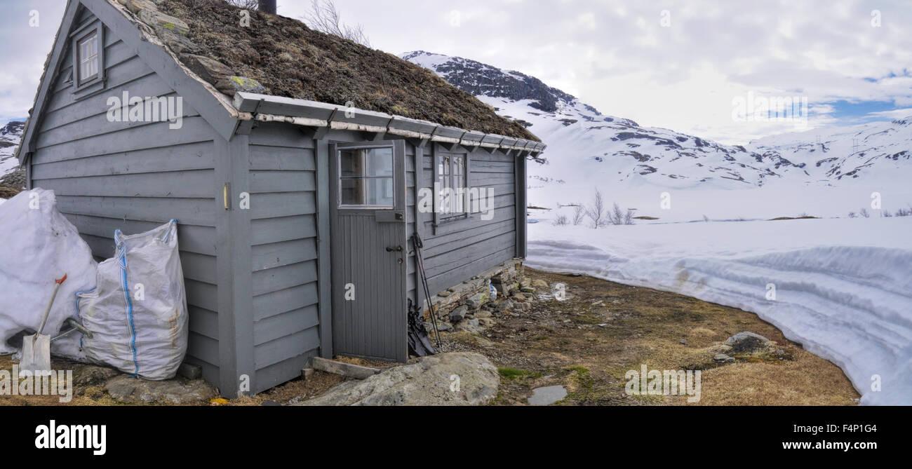 Mountain cabin near Trolltunga in Norway Stock Photo