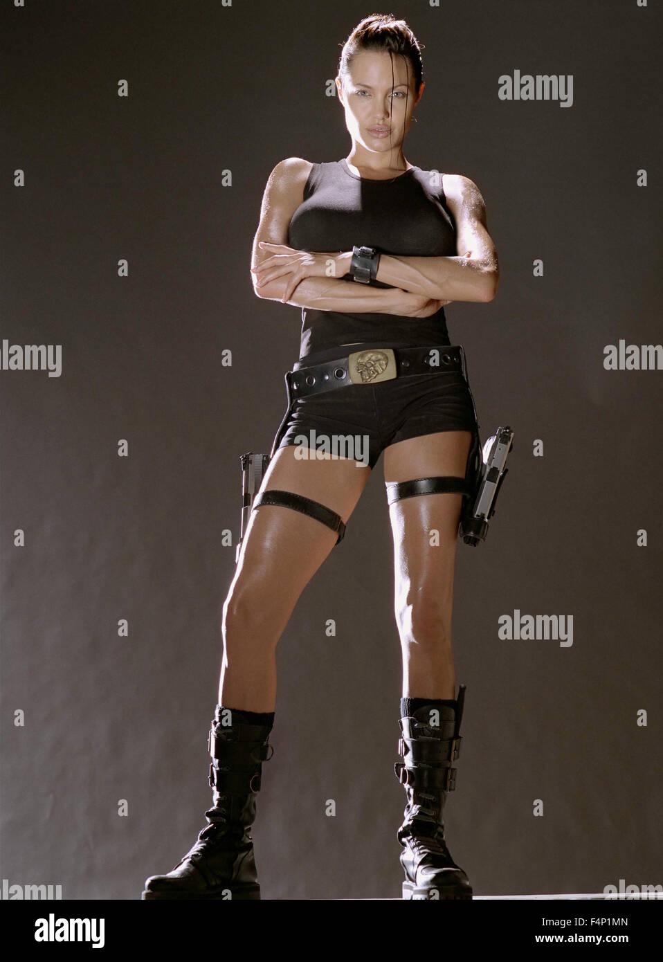 Angelina Jolie, Lara Croft : Tomb Raider 2001  USA  Director : Simon WEST - Stock Image