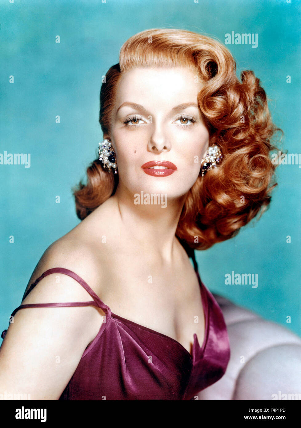 Jane Russell portrait in 1956 - Stock Image