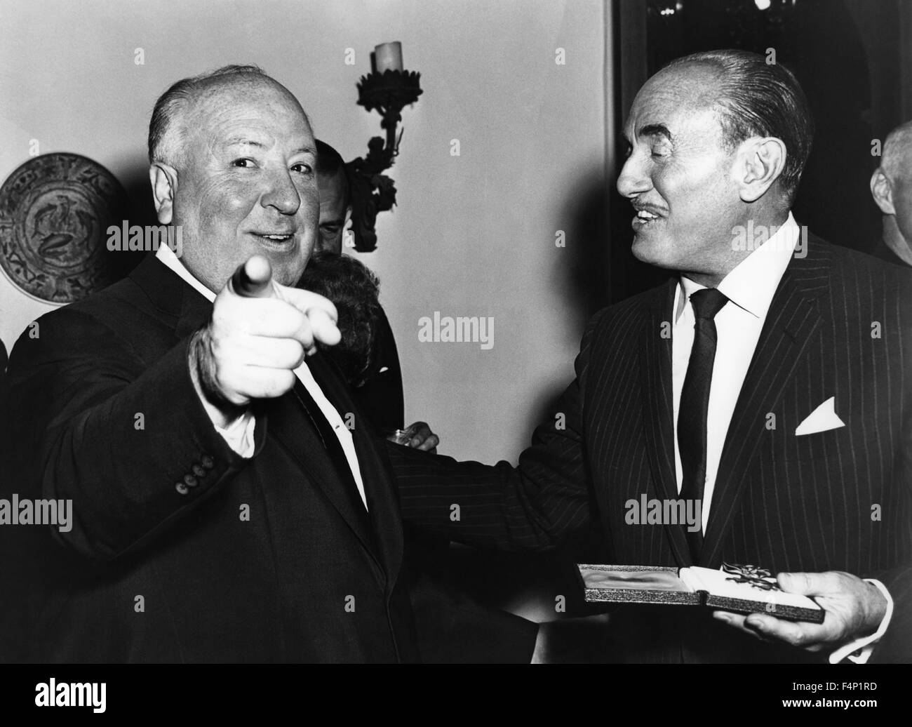 Alfred Hitchcock with Jack Warner - Stock Image