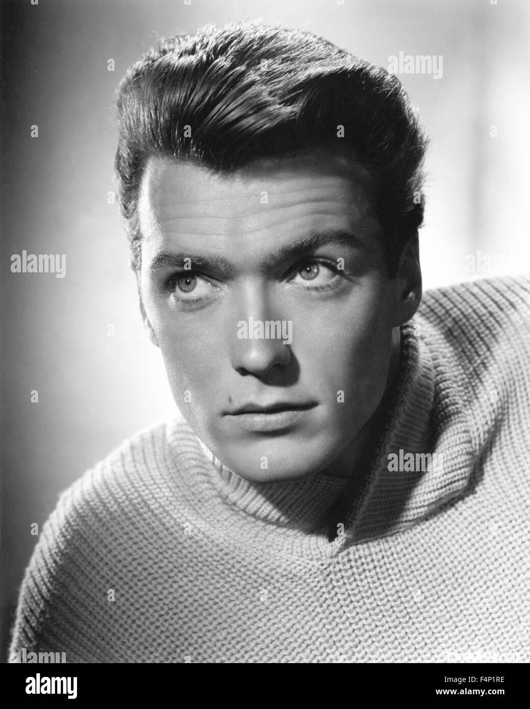 The 50 Best Fashion Tips Of All Time: Clint Eastwood In The 50's Stock Photo: 88994850