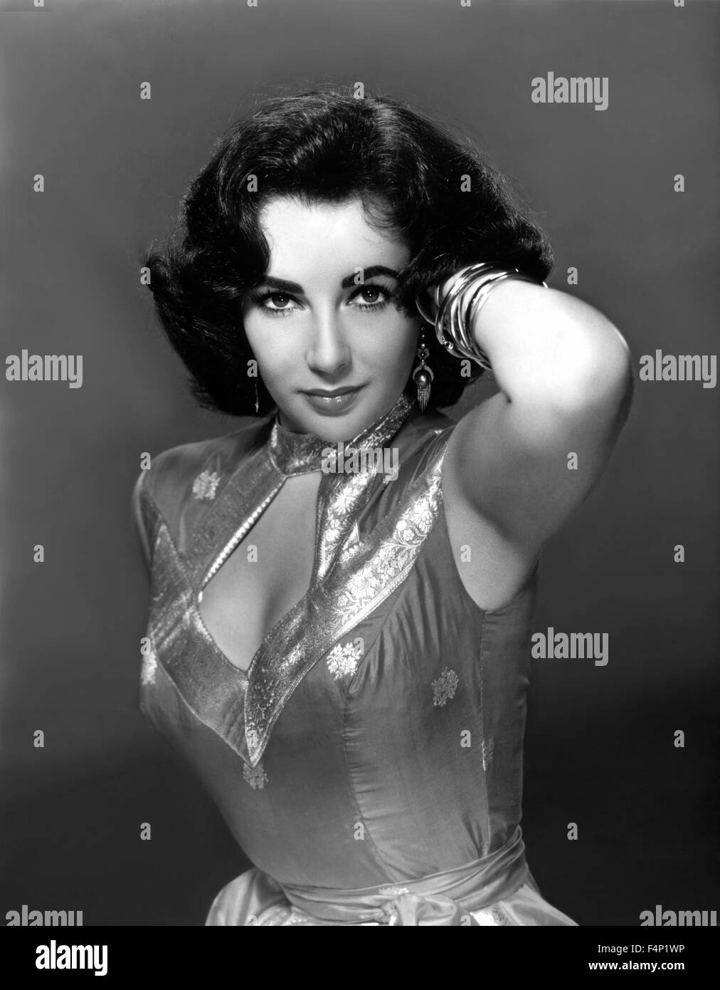 Portrait of Elizabeth Taylor - Stock Image