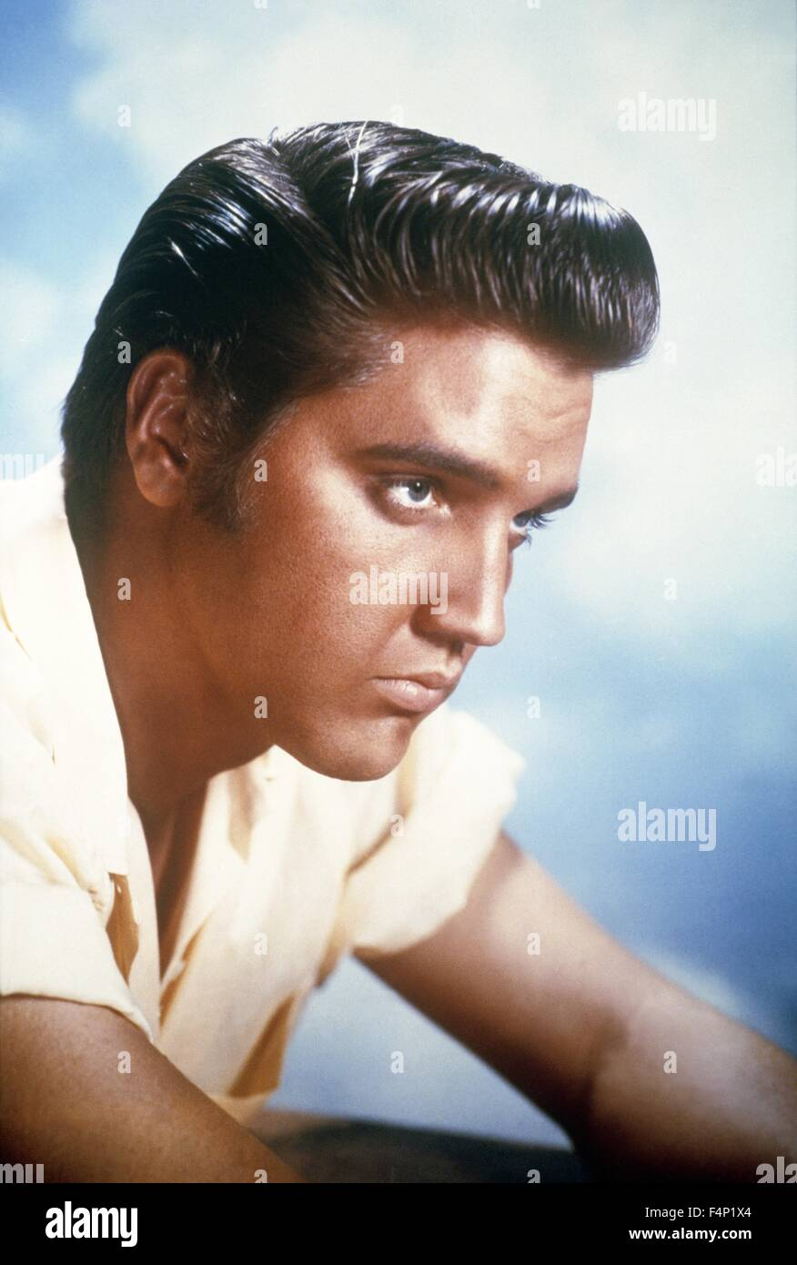 Elvis Presley in 1956 Stock Photo