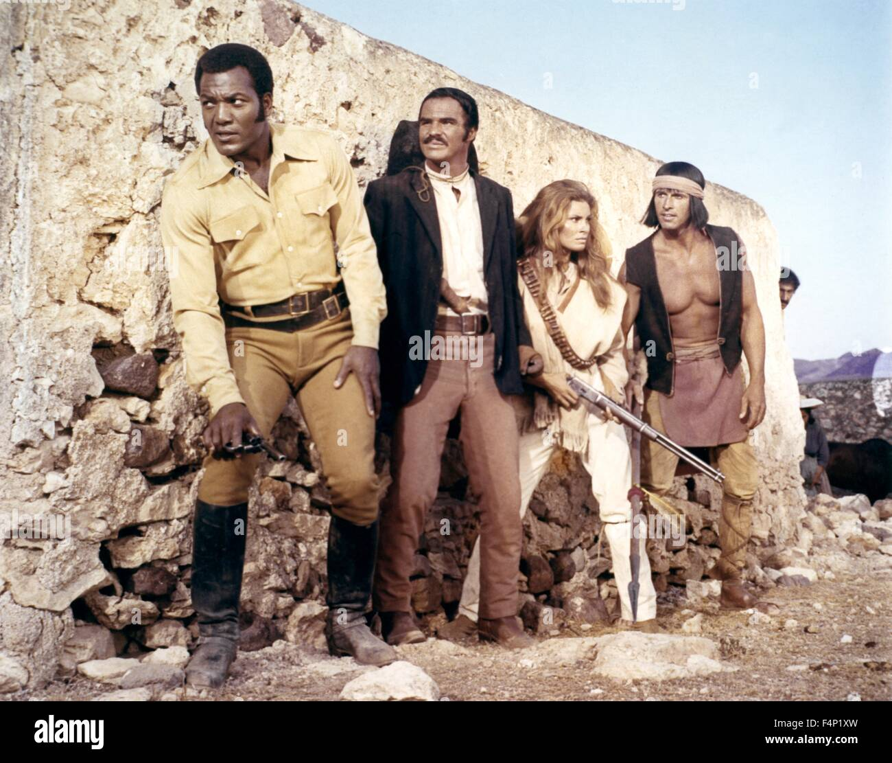 Raquel Welch, Jim Brown, Burt Reynolds / 100 Rifles 1969 directed by Tom Gries - Stock Image