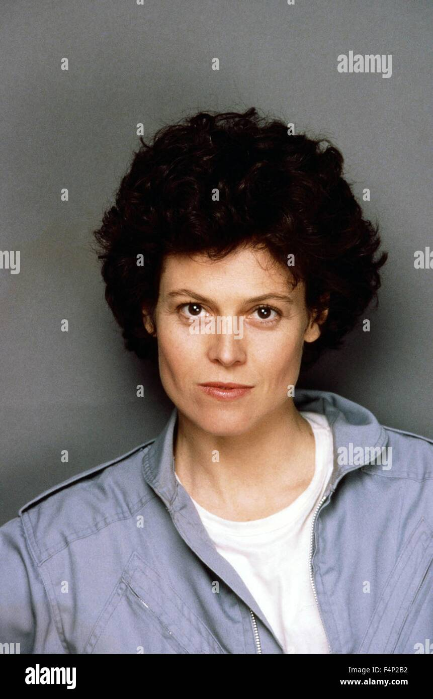 Sigourney Weaver / Aliens 1986 directed by James Cameron - Stock Image