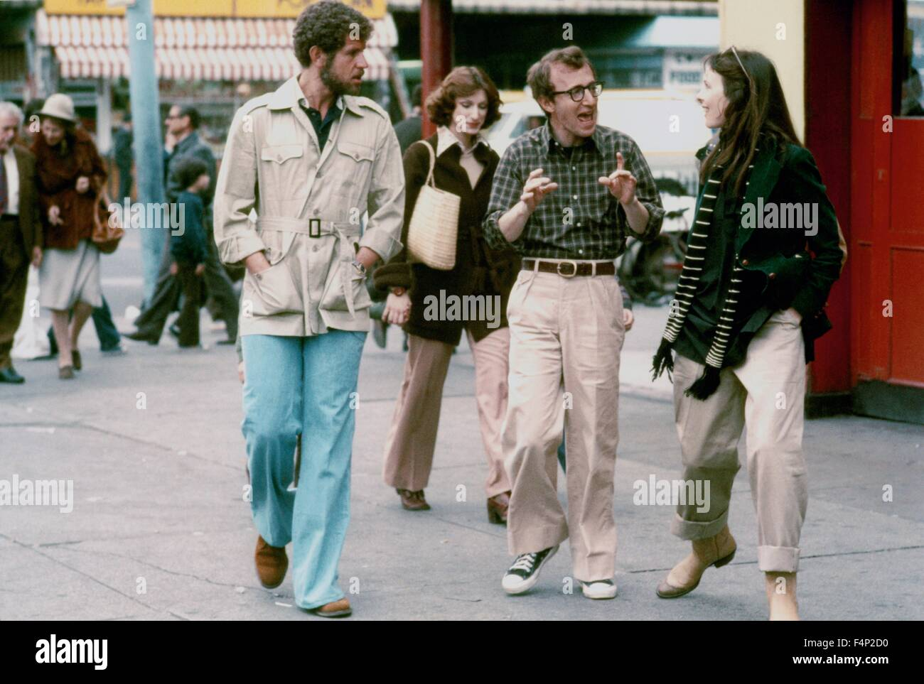 Tony Roberts, Woody Allen, Diane Keaton / Annie Hall 1977 Directed Woody Allen - Stock Image