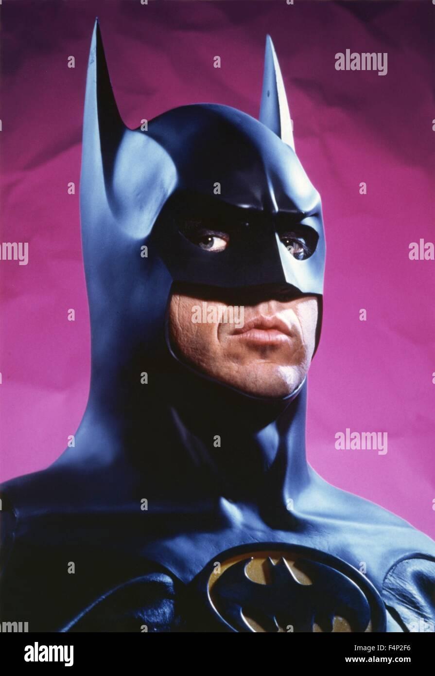 Michael Keaton / Batman 1989 directed by Tim Burton - Stock Image