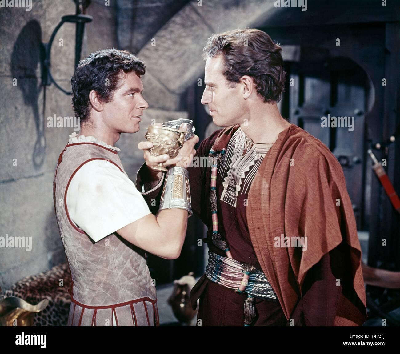Stephen Boyd, Charlton Heston / Ben-Hur 1959 directed by William Wyler - Stock Image