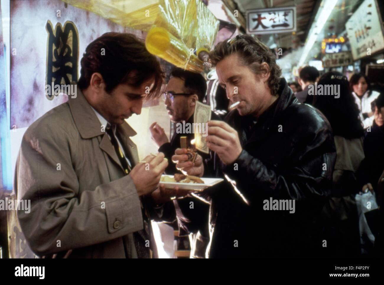 Andy Garcia, Michael Douglas / Black Rain 1989 directed by Ridley Scott - Stock Image
