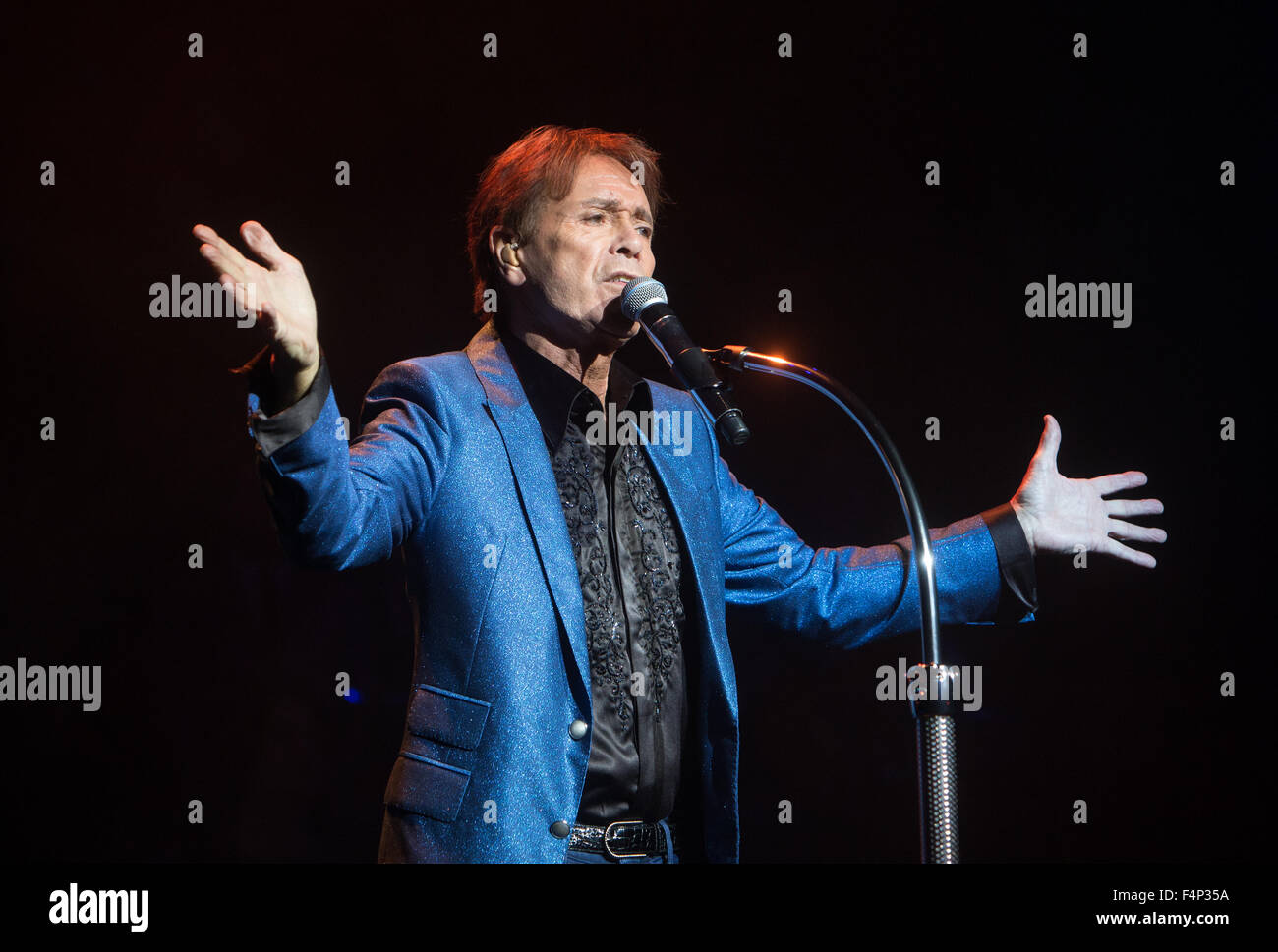 Sir Cliff Richard in concert at the Royal Albert Hall,London.The concert was part of his 75th birthday tour. - Stock Image