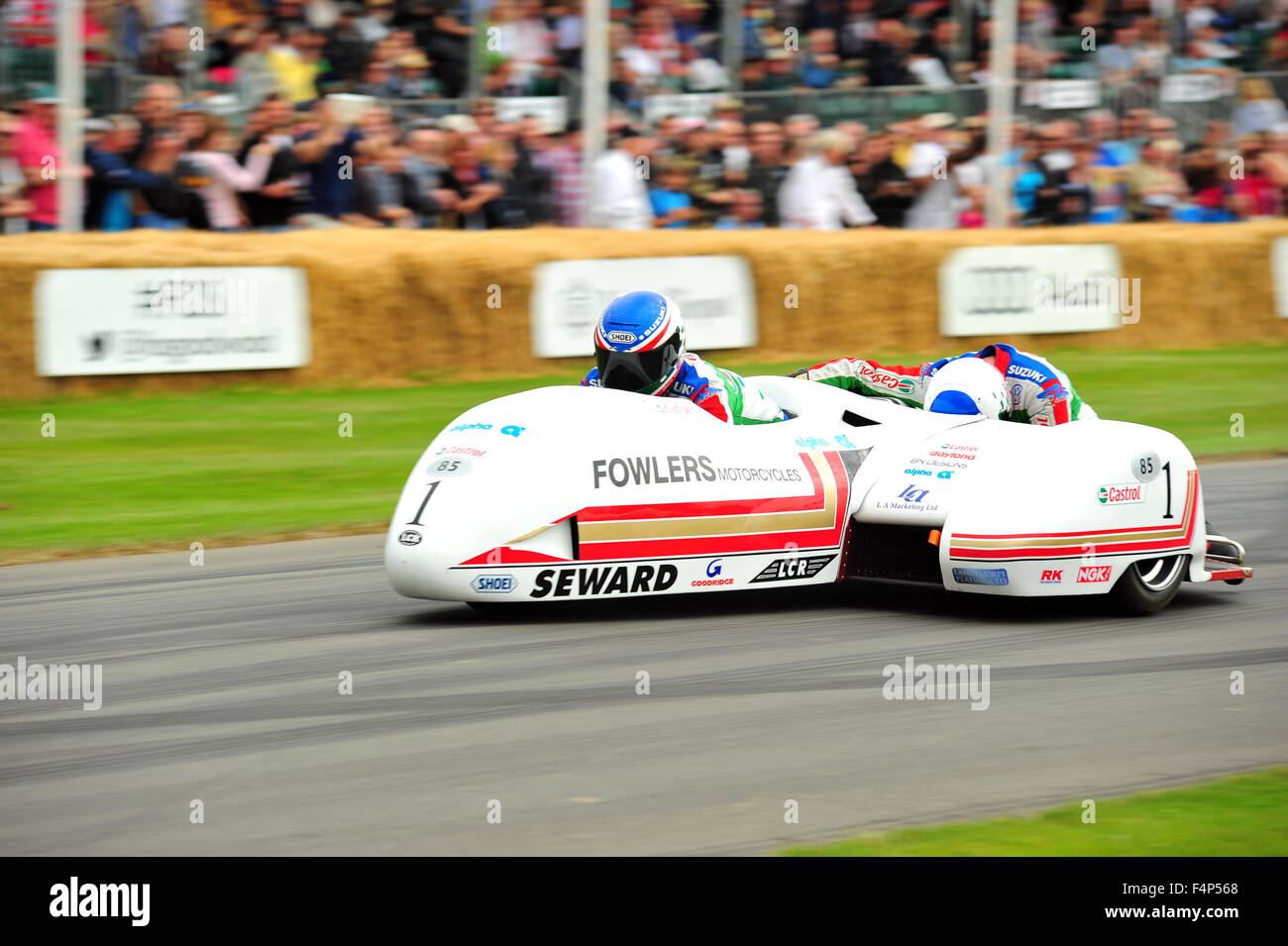 A LCR-Yamaha TZ500 sidecar at the Goodwood Festival of Speed in the UK. - Stock Image